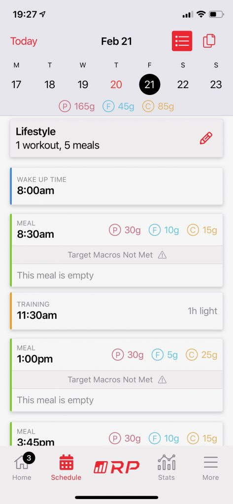 The RP Diet app